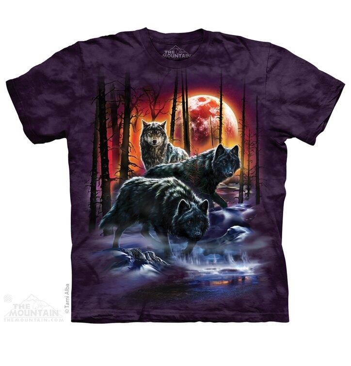 Tűzzel és jéggel játszó farkasok póló