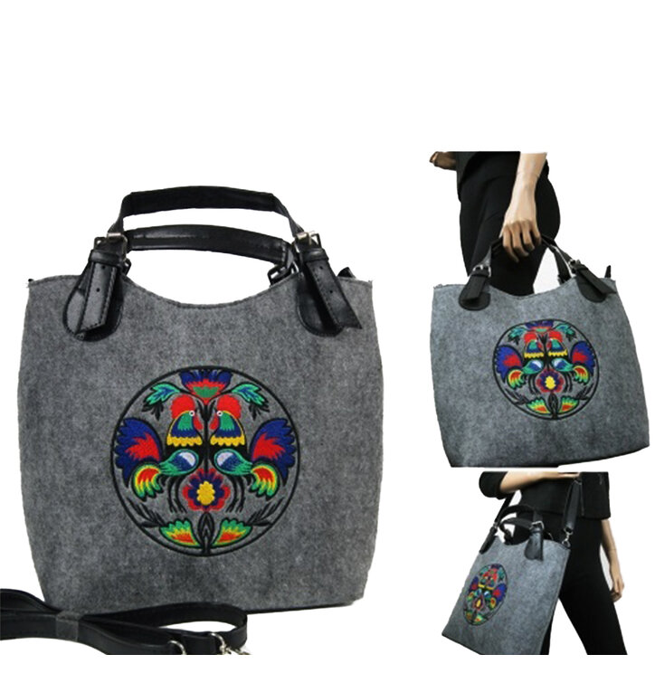 Excent Handbag - Colourful Roosters