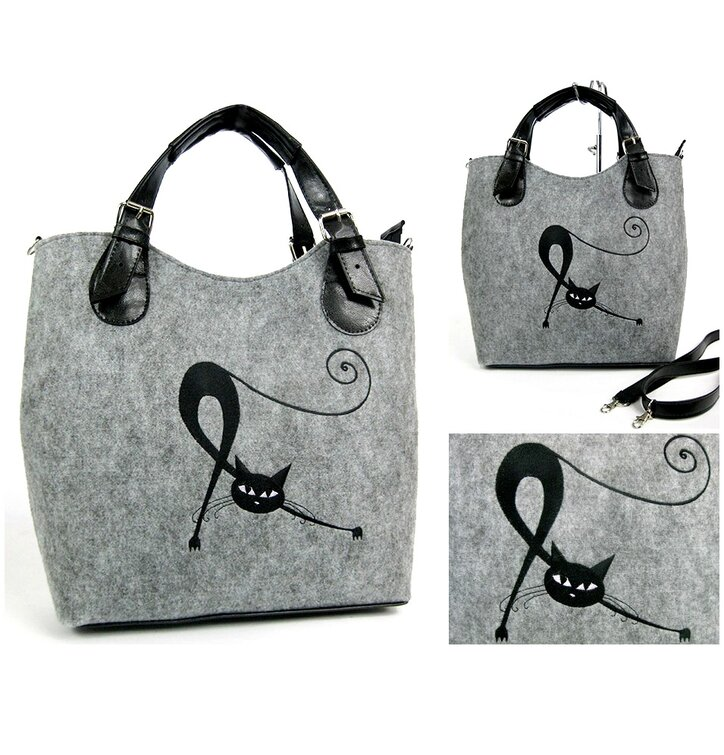 Excent Handbag - Stretching Cat