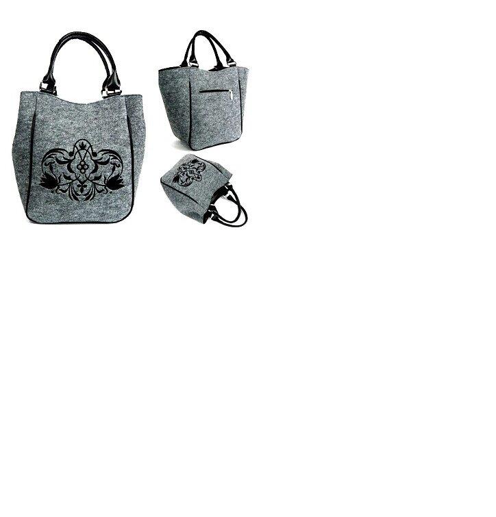 Piknik Handbag - Black Ornament Sofia