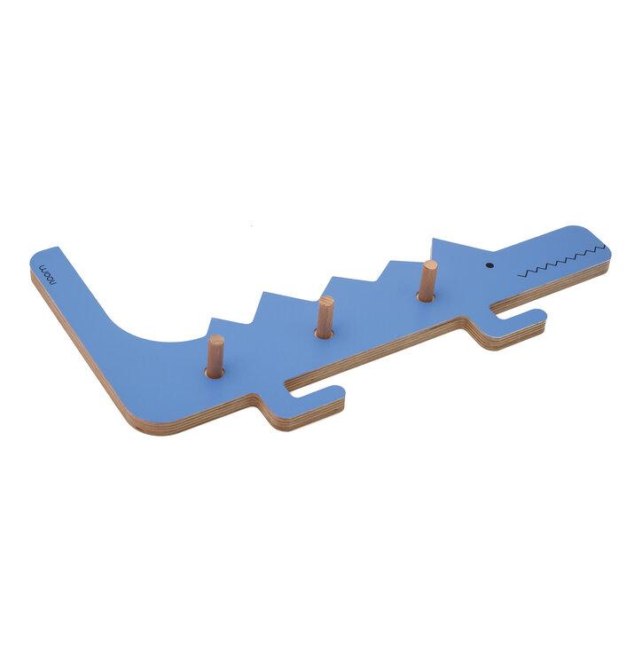 Akasztó krokodil DINO - kék