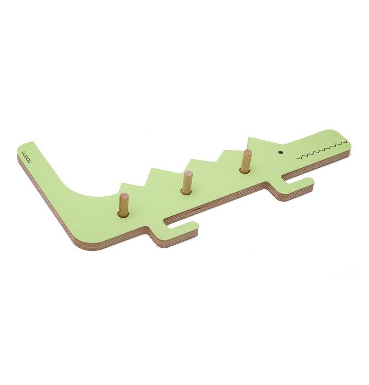 Věšák krokodýl DINO - zelený