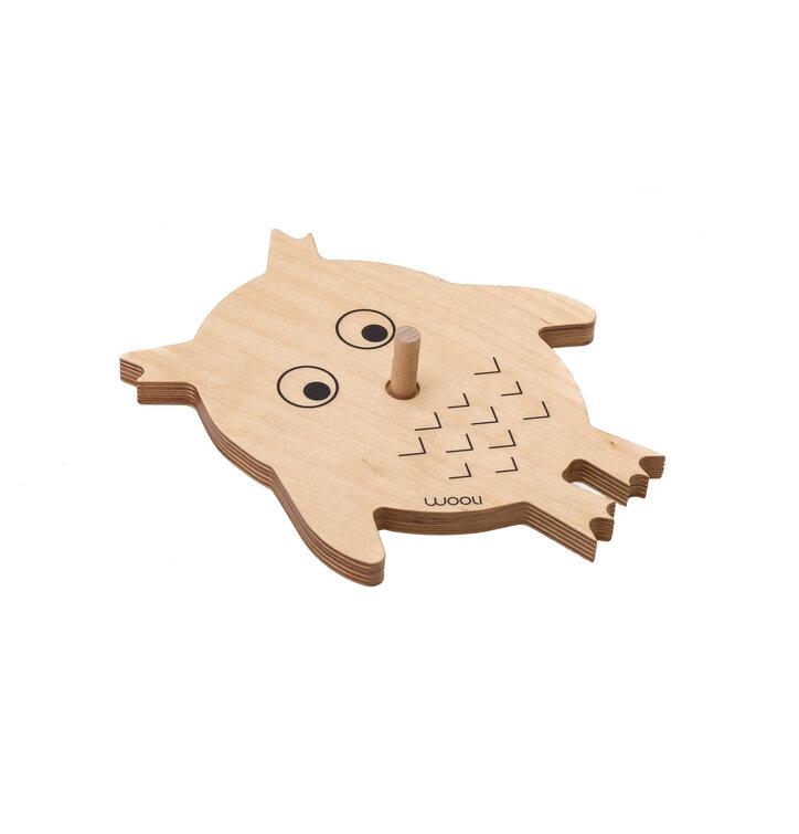 Věšák sova VIKI - přírodní