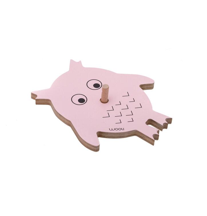 Věšák sova VIKI - růžová