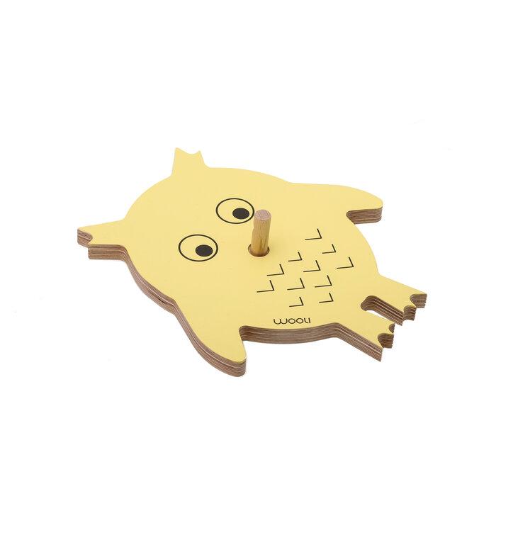 Věšák sova VIKI - žlutý
