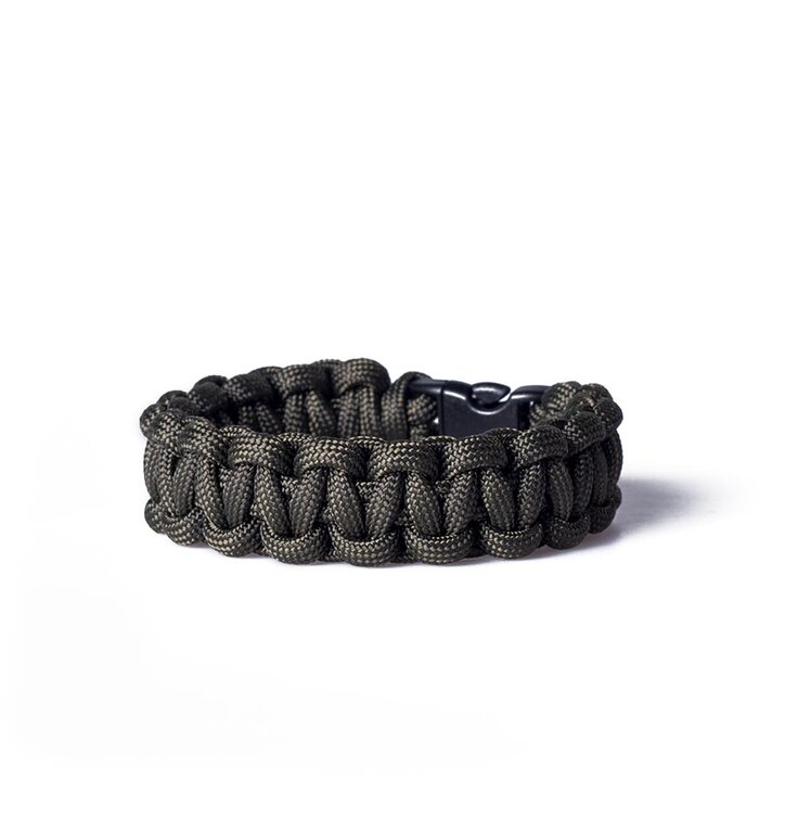 Paracord survival bracelet-black