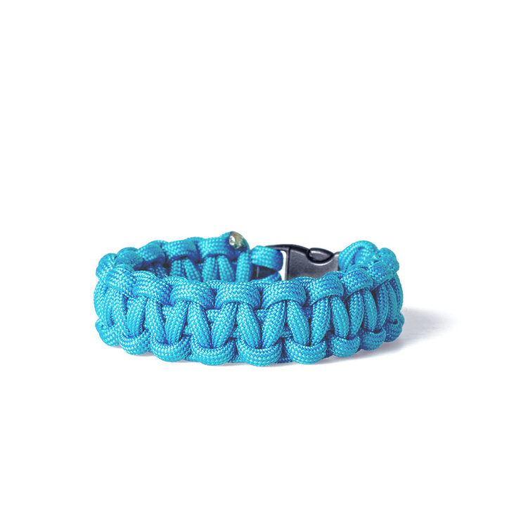 Paracord survival bracelet-blue