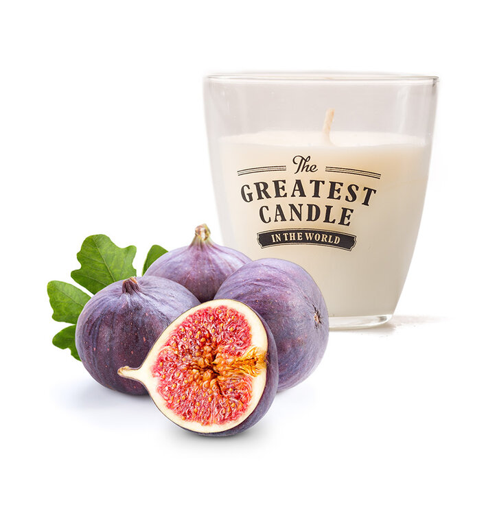 Glass Candle Fig Milk