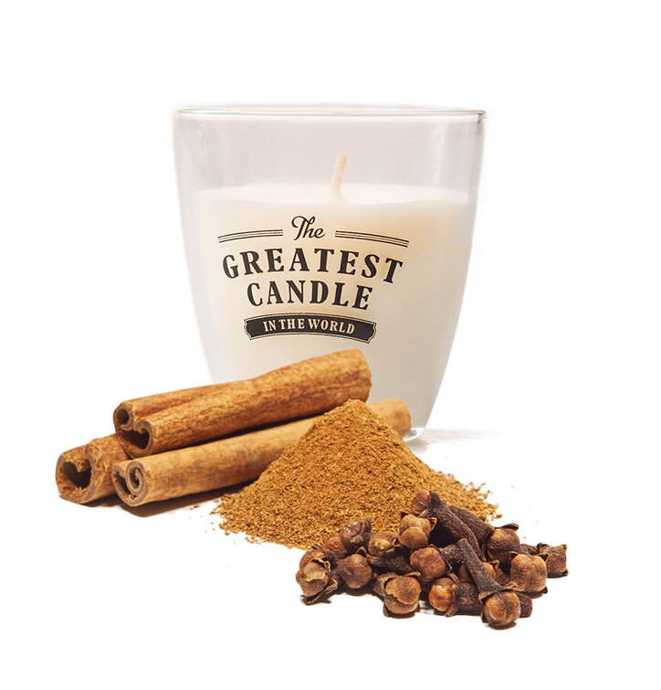 Glass Candle Clove and Cinnamon