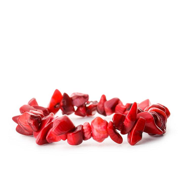 Náramok Koral červený jemnozrnný - kameň vášne