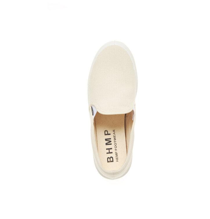 1bc631cea08 Sleva Dámské slip-on boty z konopí béžové s bílou podrážkou