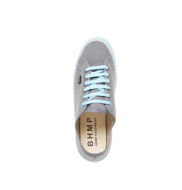 cca4afa6f Pre dokonalý a originálny outfit Dámske plátené konopné tenisky sivo-modré