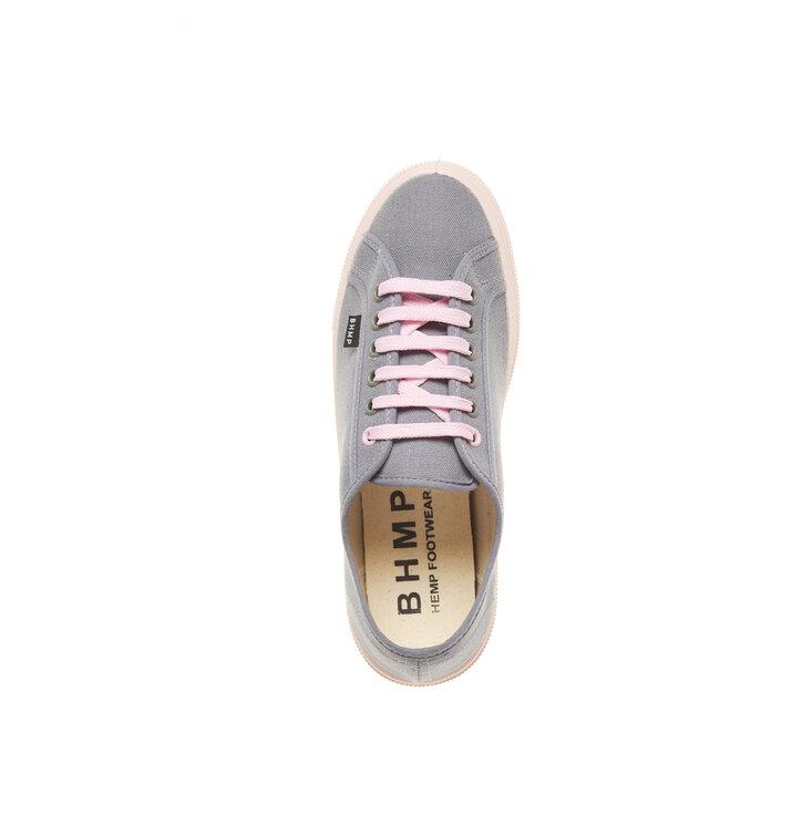 Obrázok produktu Dámske vegánske tenisky sivé s ružovou podrážkou 85365cab15f