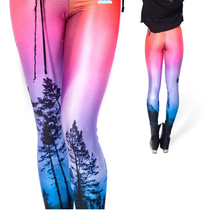 Női elasztikus leggings Elvarázsolt erdő