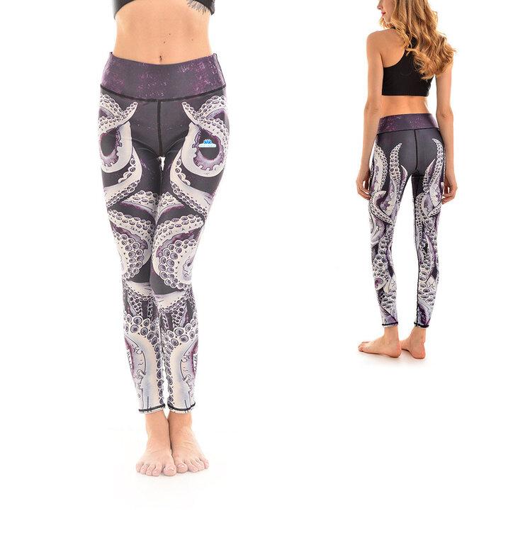 Női sportos elasztikus leggings Polip