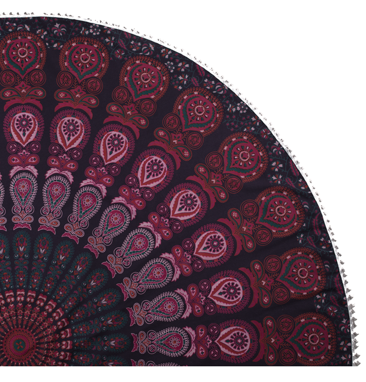 Round Beach Throw Hippie
