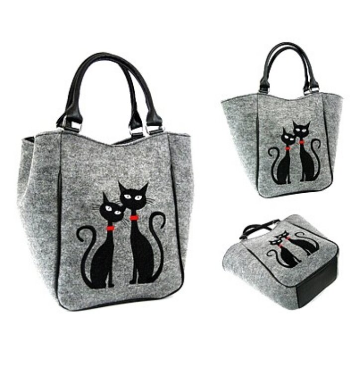 Kabelka do ruky Piknik - Dve mačky