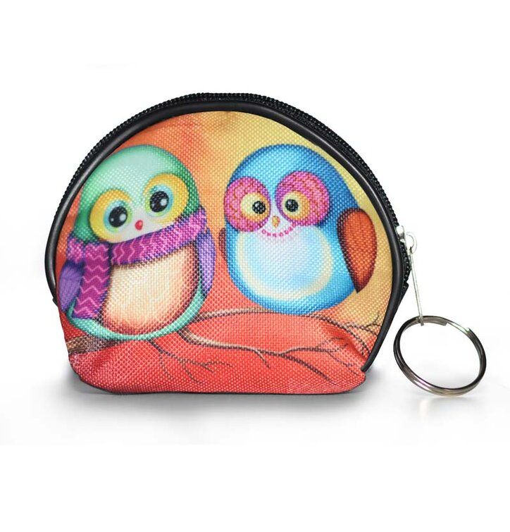 Coin Purse - Owls in Love