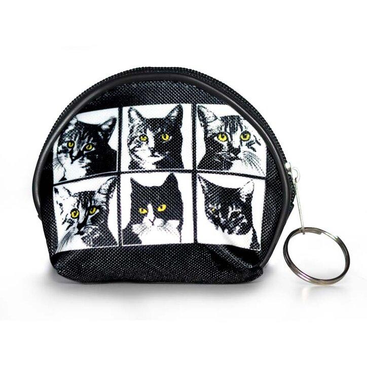Peňaženka mincovník - Mačací Pop-Art