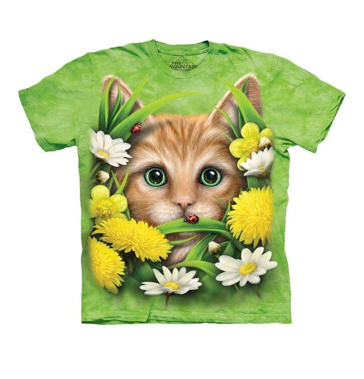 Kitten In Springtime Child