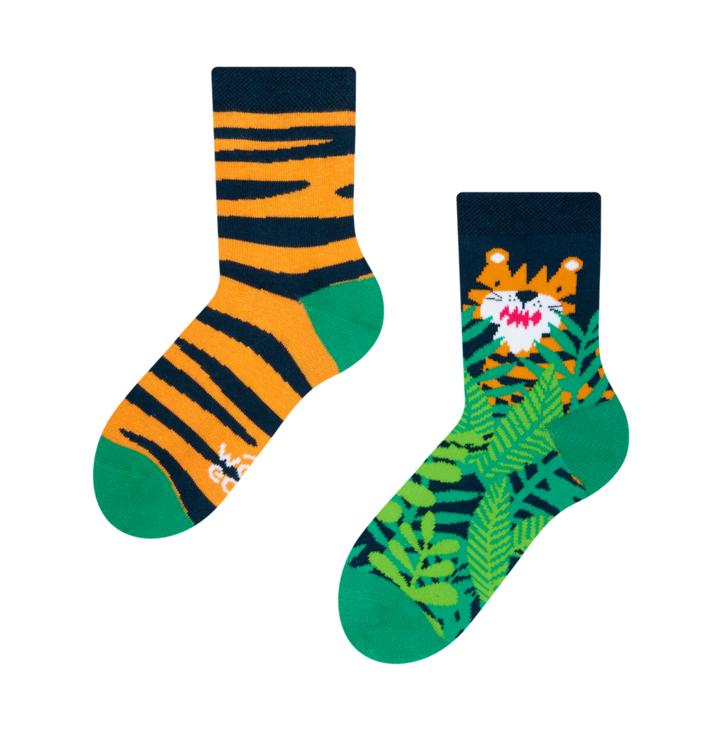 Gyermek vidám zokni Tigris