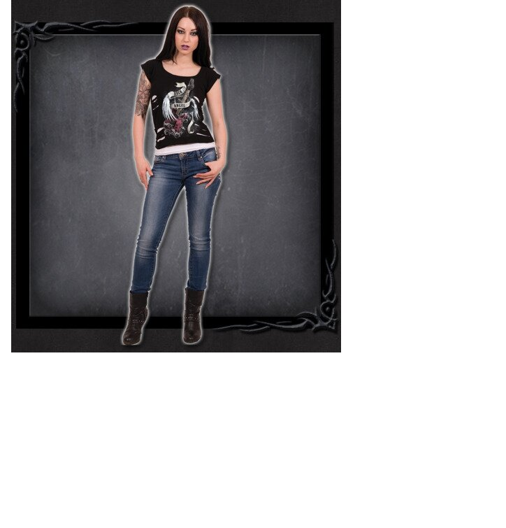 6c8a0f06bf Lifestyle fotó Mennyei zene 2 az 1-ben női póló