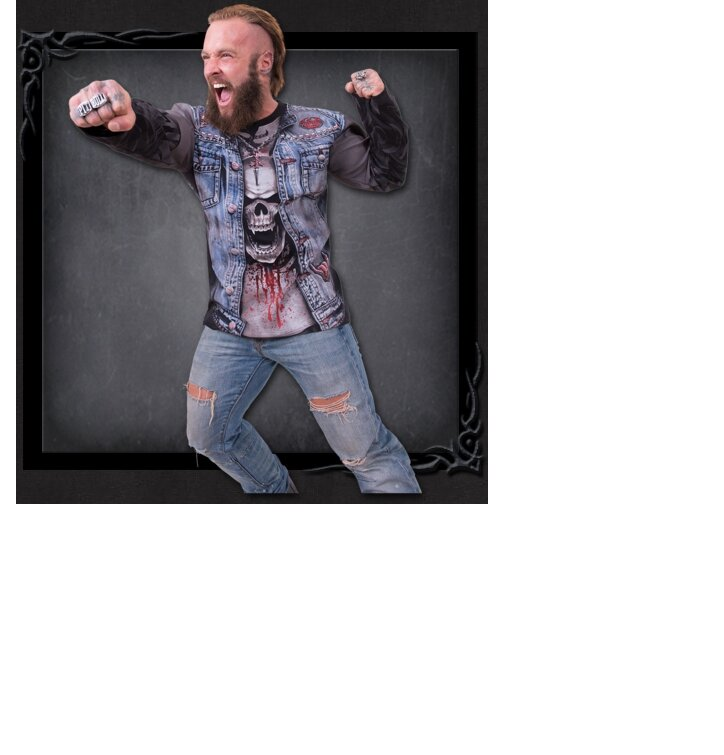 Kiárusítás Farmer dzseki hosszú ujjú póló 13f4c3dc80