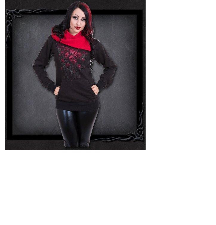 pro dokonalý a originální outfit Dámská mikina Krvavé růže 234ee9876c