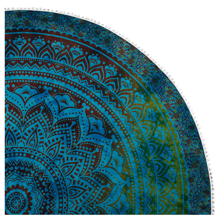Round Beach Throw Blue Lagoon