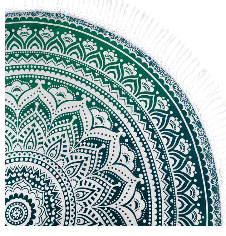 Bavlnená mandala Morská zelená