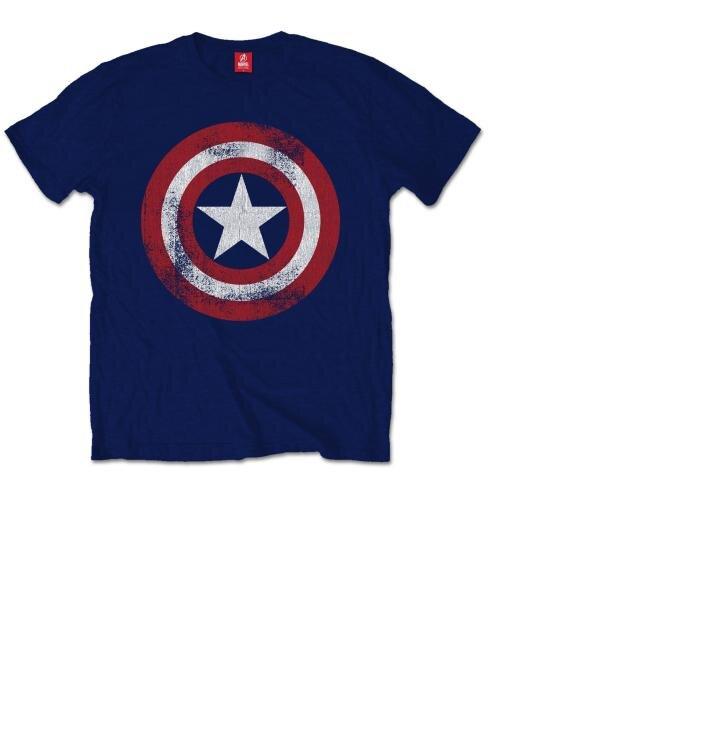 Тениска Marvel Comics Captain America Distressed Shield