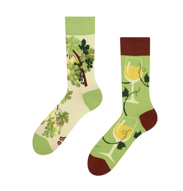 Veselé ponožky Bílé víno
