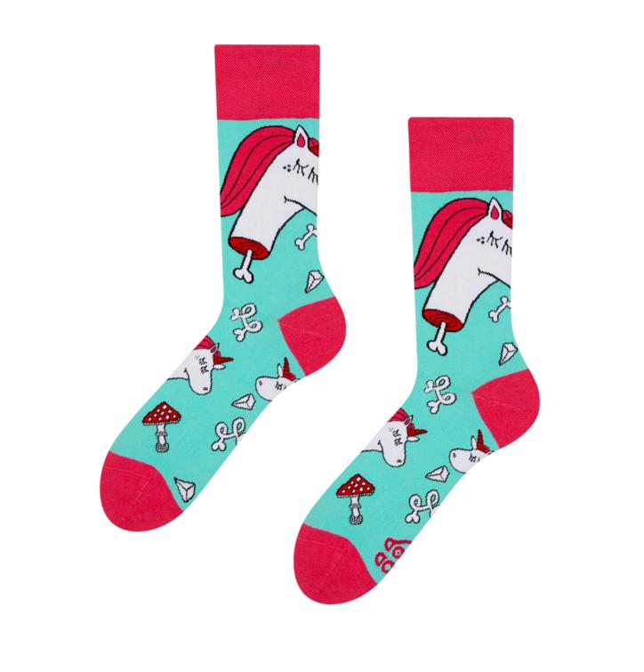 Regular Socks Zombie Unicorn