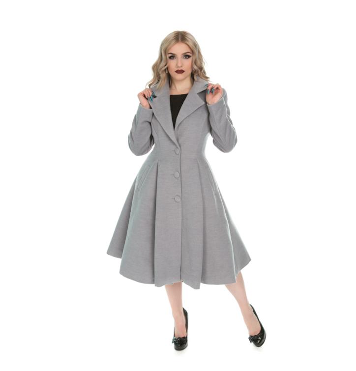 Výprodej Šedý dámský retro kabát s knoflíky · Potěšte se tímto kouskem  Dedoles ... d3ec9f791d