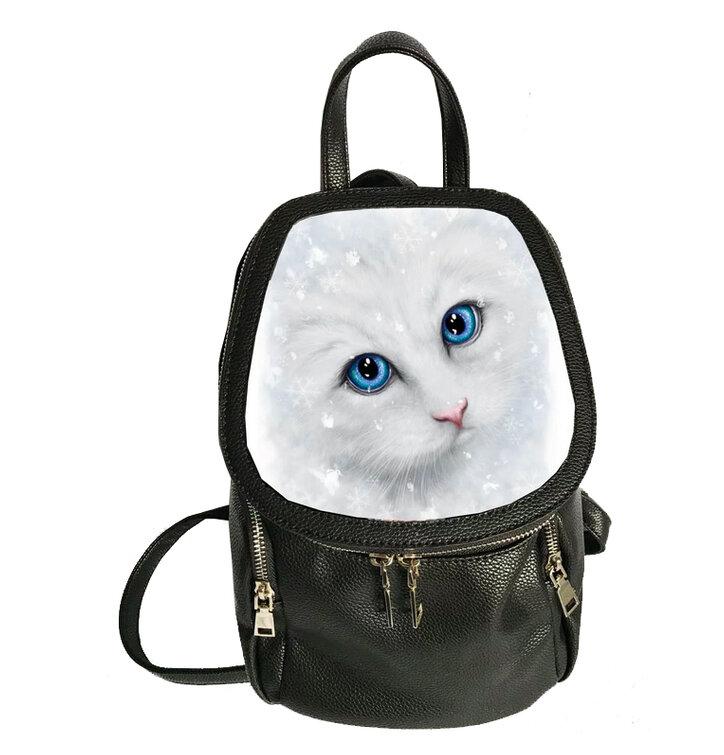 Batoh Zimná mačka 3D