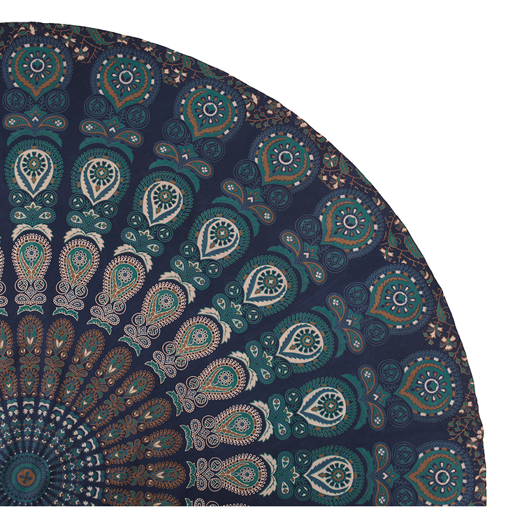 Round Beach Throw Bohemian