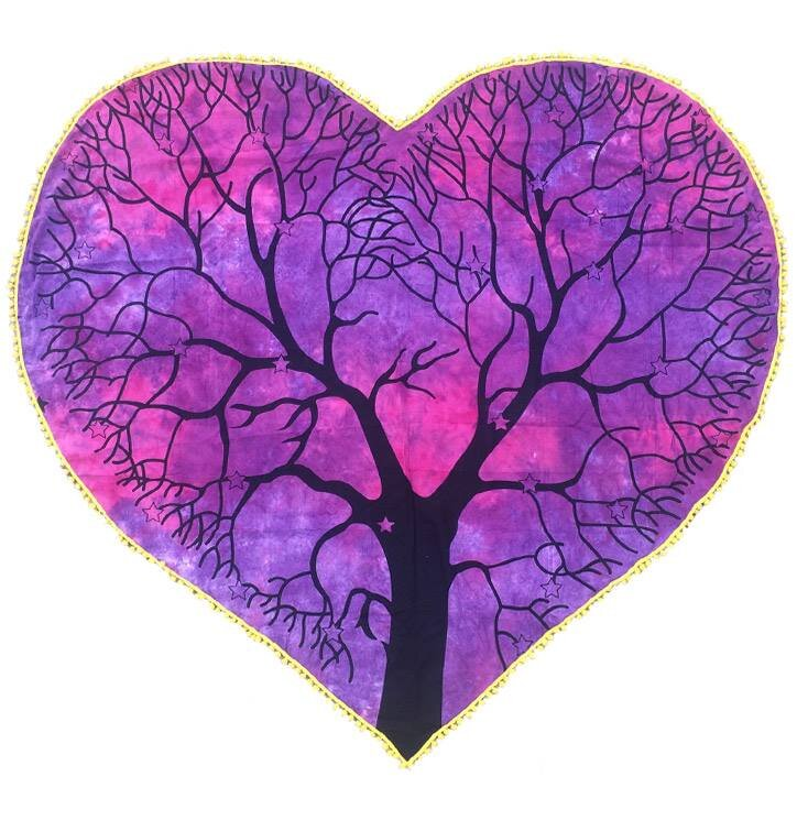 Heart-shaped Blanket Tree of Life