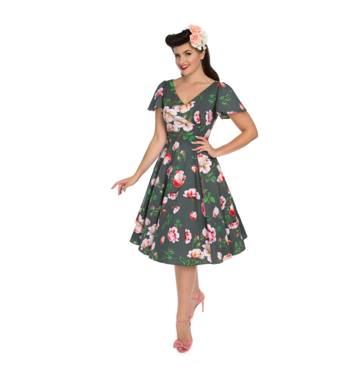 66019ed10a4d Tip na darček Retro pin up šaty Milovníčka kvetov