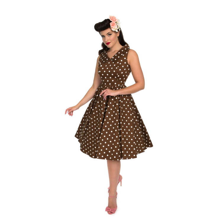 26c93ddb85a5 Obrázok produktu Retro pin up šaty Žlté bodky