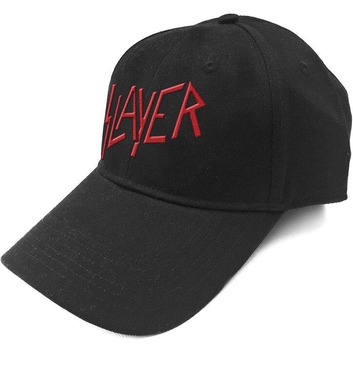 Czarna czapka z daszkiem Slayer Logo Červené