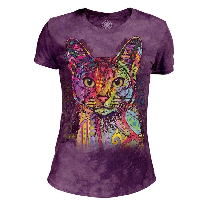 Potěšte se tímto kouskem Dedoles Dámské tri-blend tričko Abesínská kočka 45634efbfc8
