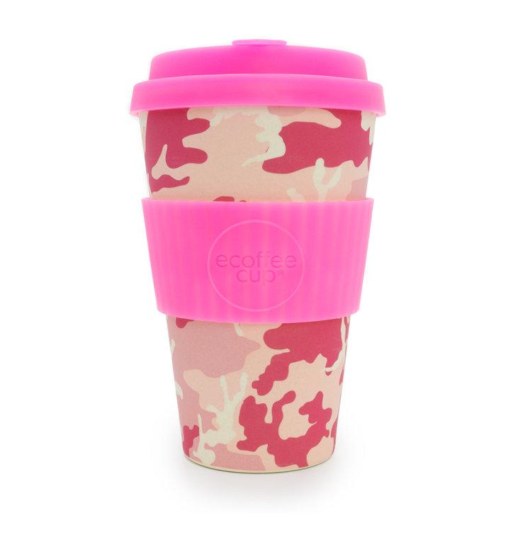 Bambusový ecoffee cup Růžový maskáč