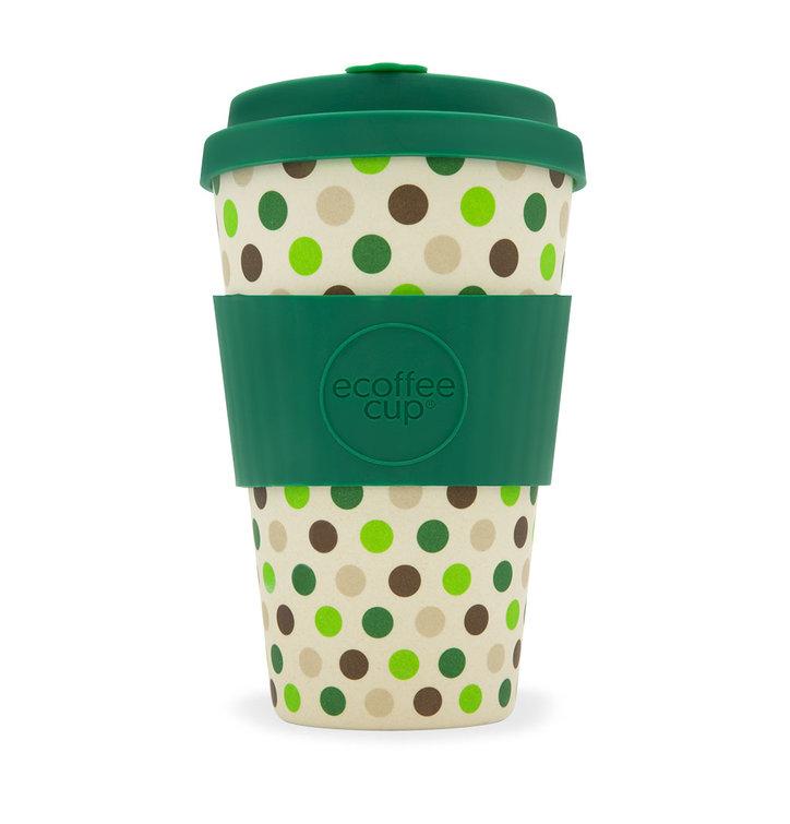 Bambusový ecoffee cup Zelené bodky