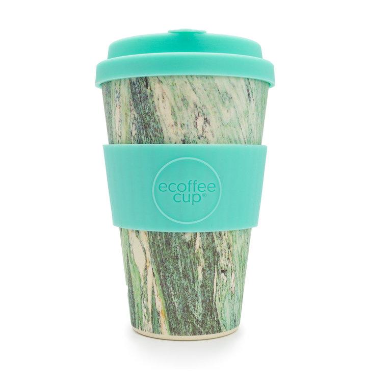 Bambusový ecoffee cup Zelený mramor