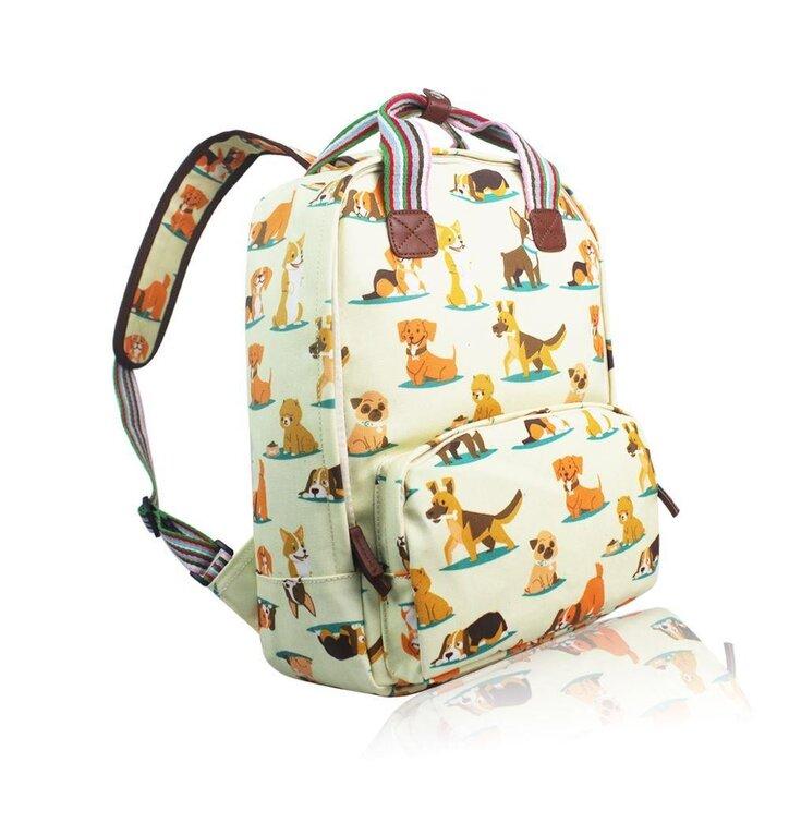 Výjimečný dárek od Dedoles Béžový batoh na notebook Pejsci. Výprodej Béžový  batoh na notebook Pejsci f01e9dd0c9