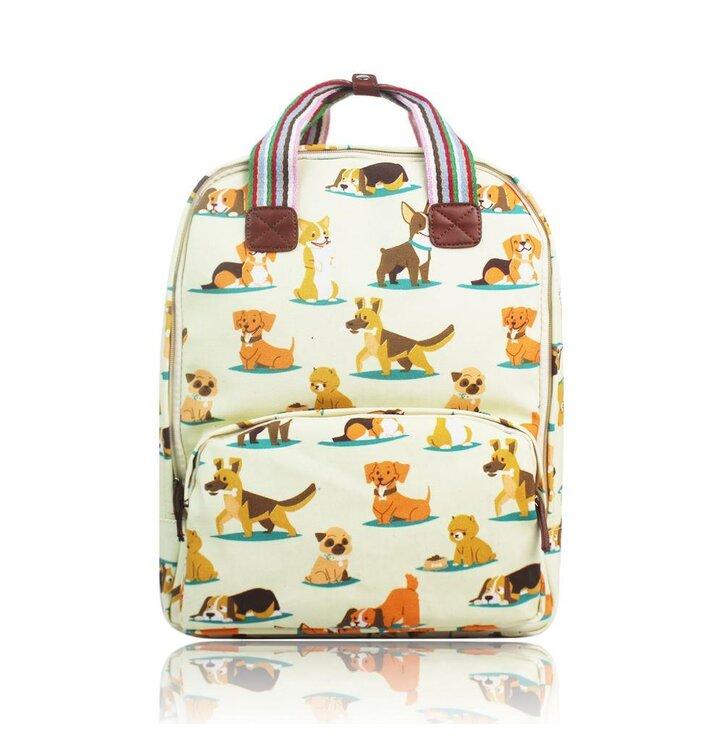 Lifestyle foto Béžový batoh na notebook Pejsci 5786f86f4c
