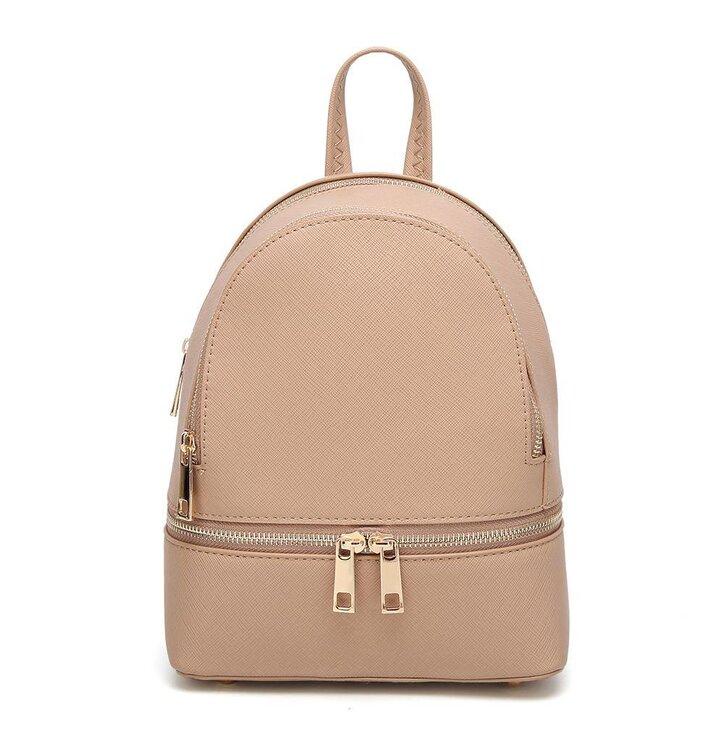 bccf70ebf7 Béžový ruksak z PU kože Fifi