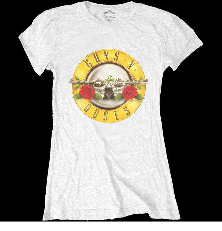 Bijela ženska majica Guns N' Roses Classic Bullet Logo