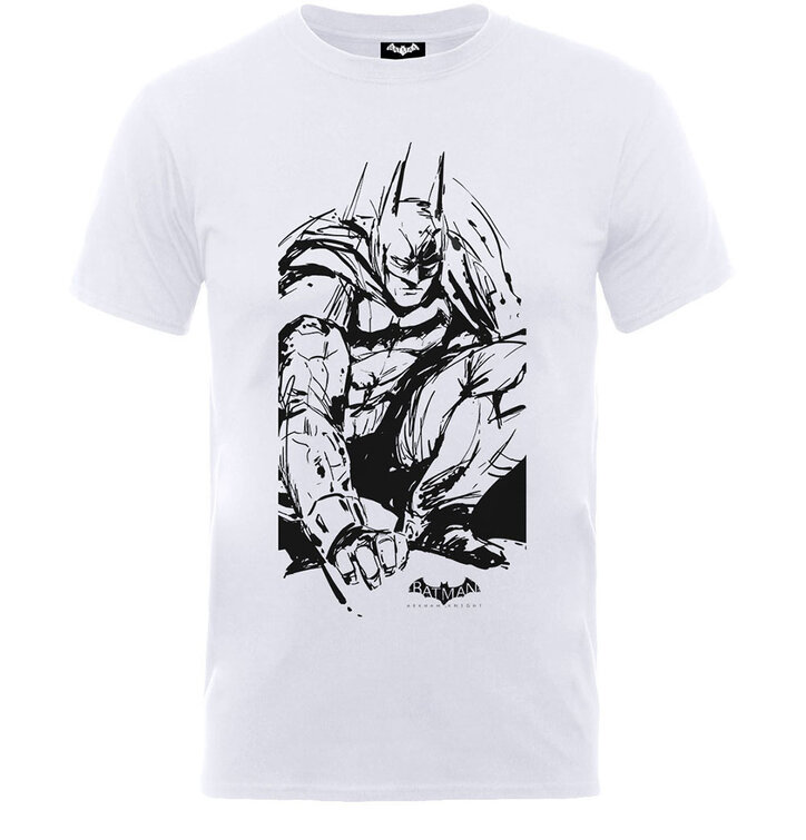 Biele detské tričko DC Comics Batman Arkham Sketch