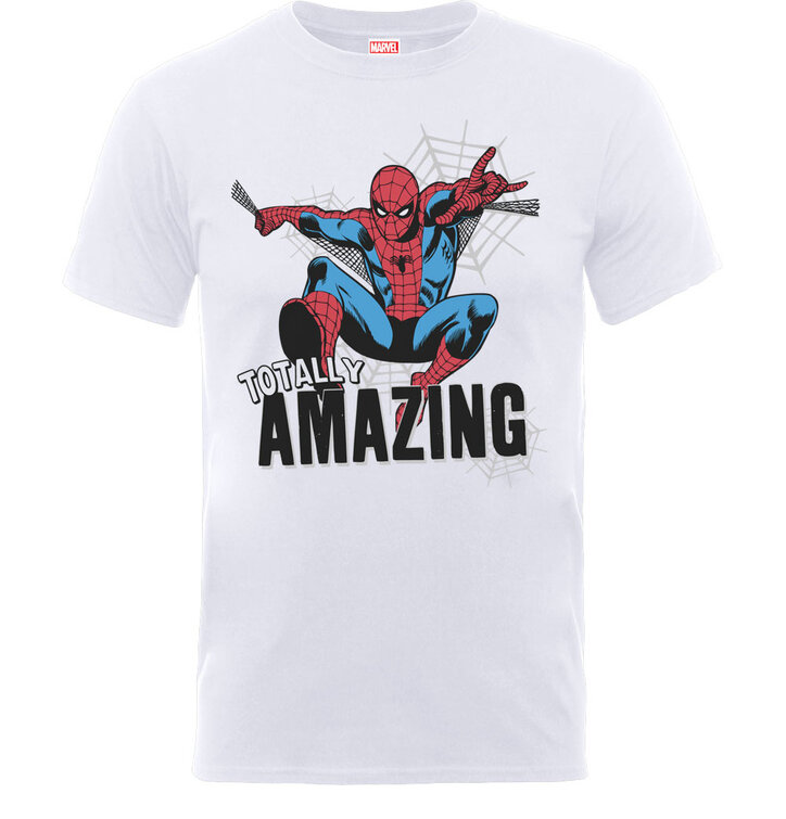 Biele detské tričko Marvel Comics Amazing Spiderman